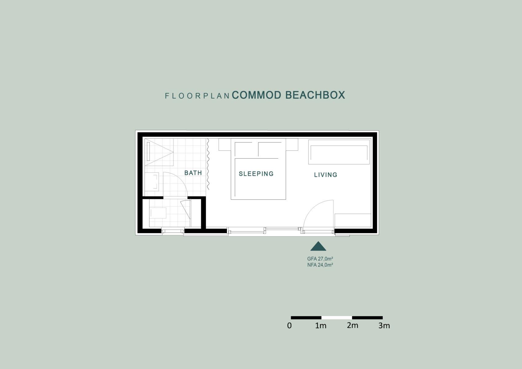 COMMOD HOUSE BEACHBOX 24m² GFA