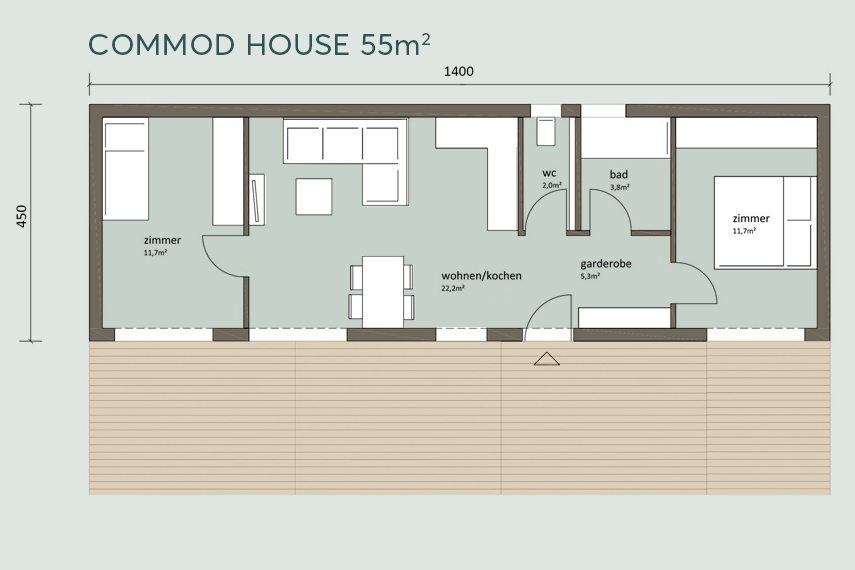 COMMOD HOUSE 40m²/55m² NIA