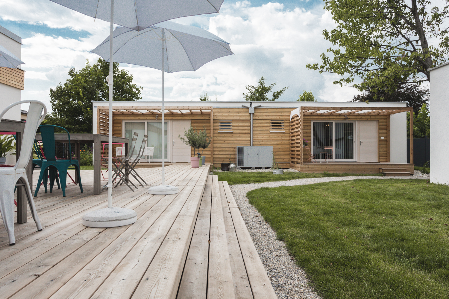 "COMMOD HOUSE 40 ""Tiny House"" (48m² BGF) COMMOD HOUSE ""Weingartenhaus"" 55 (63m² BGF)"