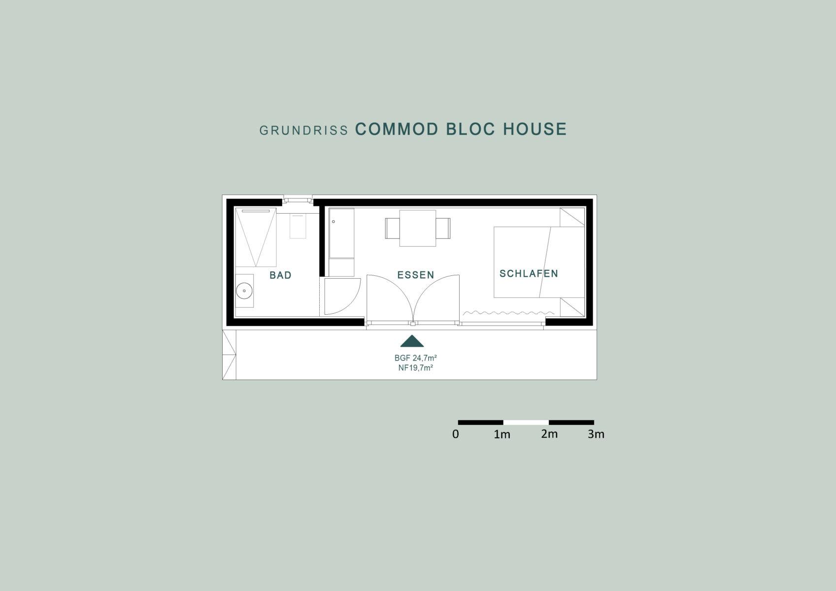 COMMOD BLOC HOUSES 24m²BGF