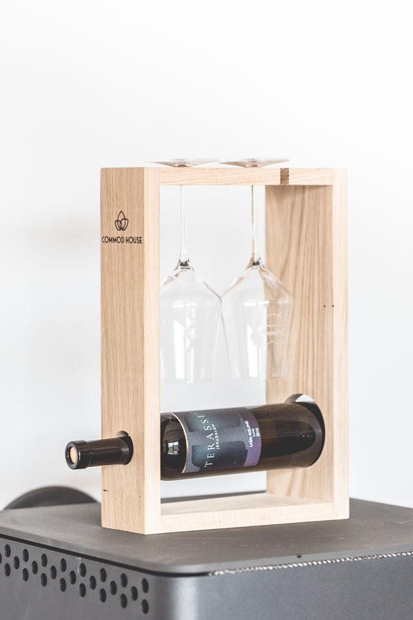 BOTTLE RACK FOR WINE BOTTLE & GLASSES BY COMMOD