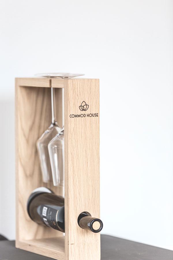 Weinhalter für Weinflasche & Gläser by COMMOD