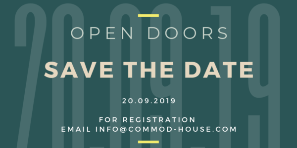 OPEN DOORS COMMOD HOUSE 20.09.2019 Anmeldung ab jetzt möglich