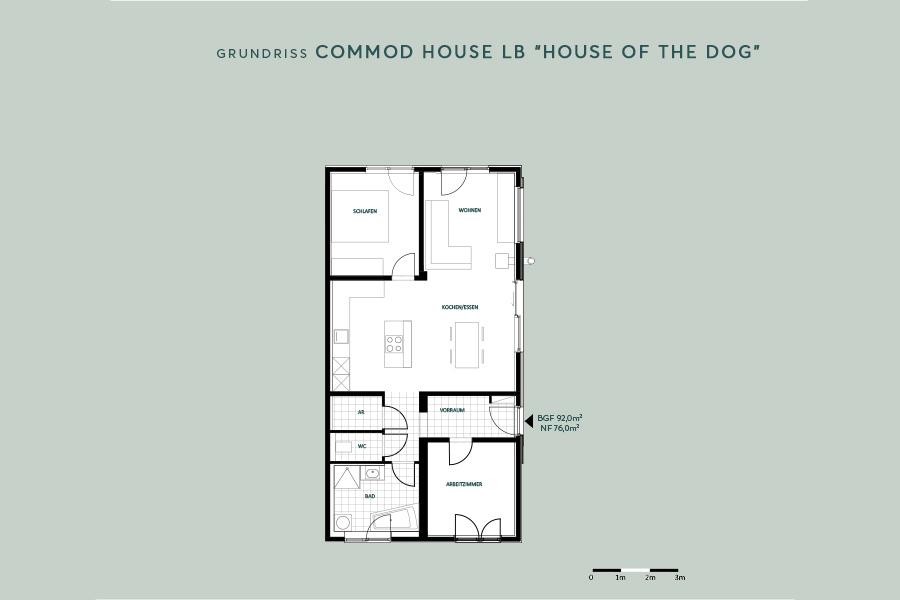 "COMMOD HOUSE LB ""house of the dog"" 92m² BGF"