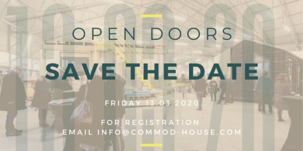 OPEN DOORS 13/03/20 COMMOD HOUSE Registration open