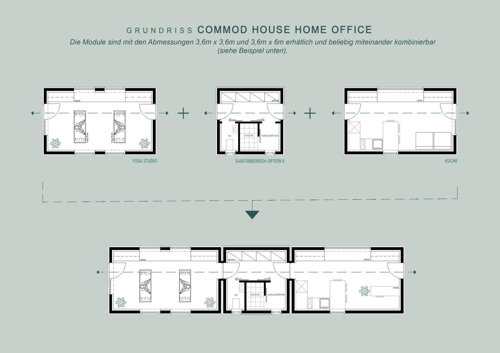 COMMOD HOUSE home office I garden office
