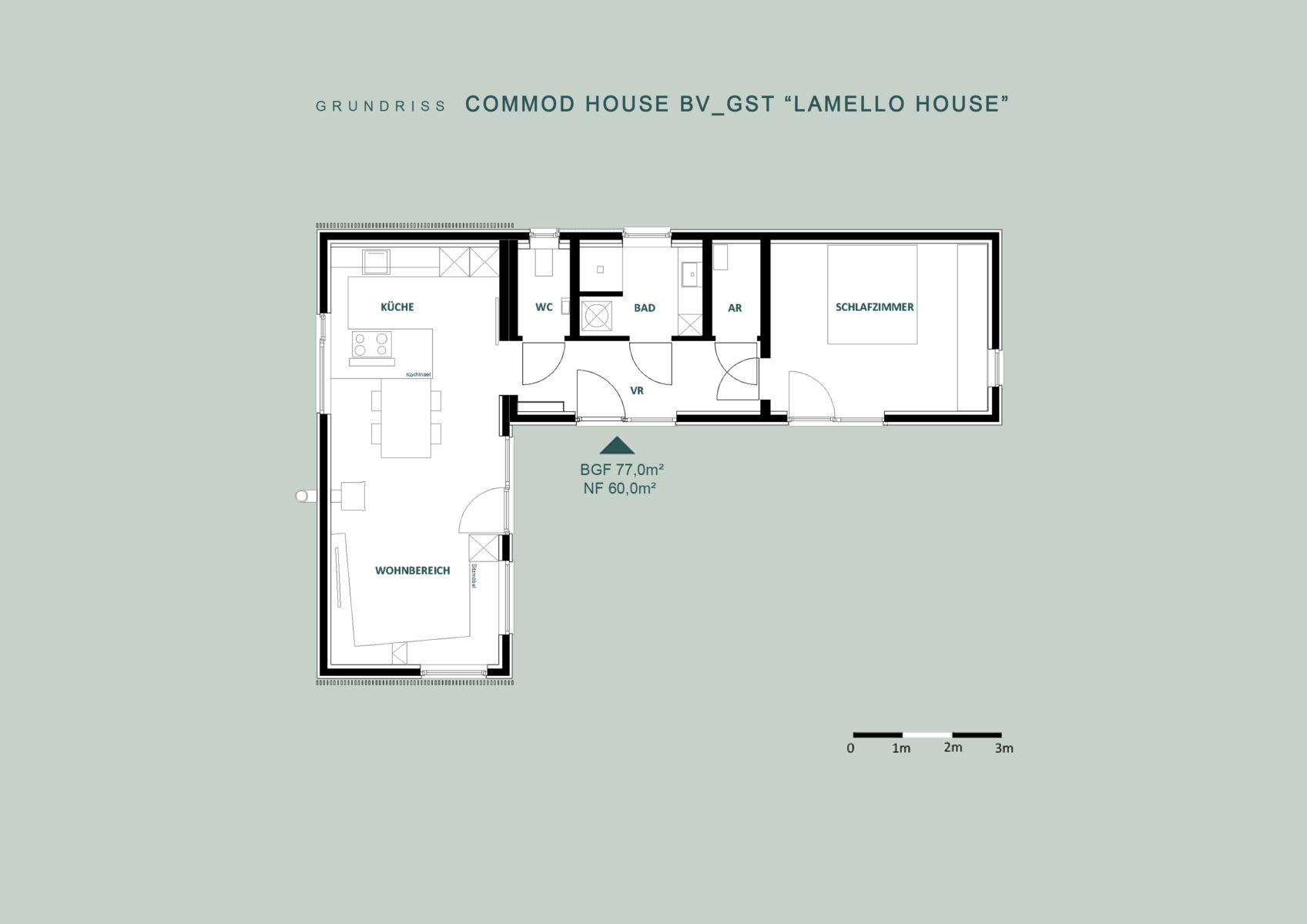 "COMMOD HOUSE ""Lamello House"" 77m² BGF"