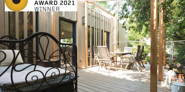 """COMMOD HOUSE """"Zauberhaus"""" mit BIGSEE Wood Design Award 2021 – Winner ausgezeichnet!"""